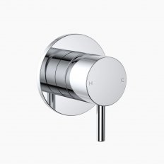 Round Pin Wall Mixer - Chrome