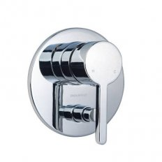 Studio Bath/Shower Mixer With Diverter Pin Lever Chrome