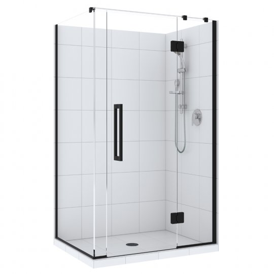 Acclaim Tile Showers Black - Centre Waste