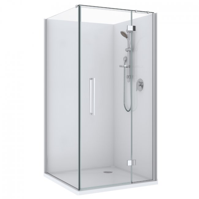 Maritsa Acrylic Showers - Chrome