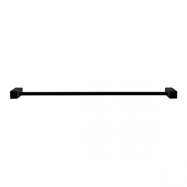 Square Single Towel Rail 670mm - Black