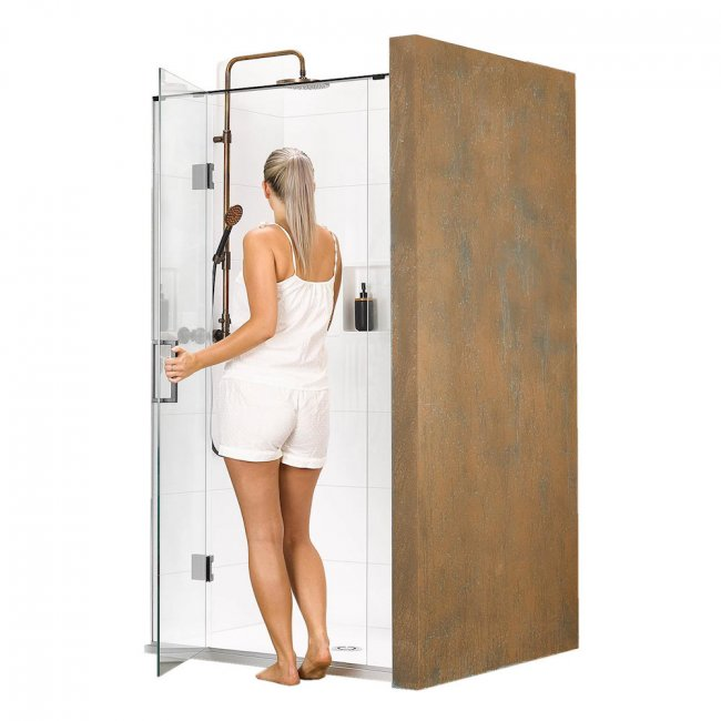 Black Pearl Delsol 3 Wall Shower 1500 x 750