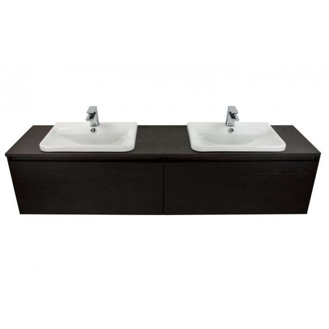 1800 Ravani Vanity Offset Basin 2 Drawer