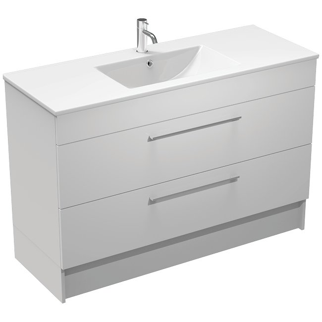 Mia 1200 2 Drawer Wall/Floor Vanity
