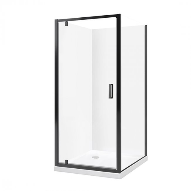 Valencia Elite Square Corner Acrylic Shower - Black