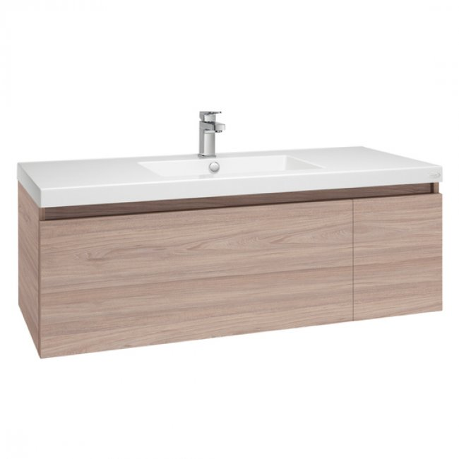 Valencia Single Drawer and Cupboard Single Bowl Wall-hung Vanity 1200mm