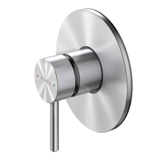 Turoa Shower Mixer With Large Faceplate - Stainless Steel