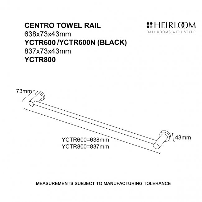 Centro Towel Rail