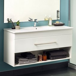 Cashmere Slim 900 Single Drawer Open Vanity