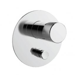 Components Shower/Bath Mixer with Diverter, Thin Trim, Oyl Handle - Chrome