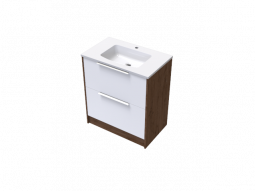 Nikau Double Drawer Vanity 750