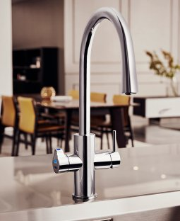 Zenith Hydrotap G4 Celsius Arc All-In-One: Boiling Chilled Sparkling Filtered Hot + Cold
