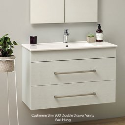Cashmere Slim Double Drawer Vanity
