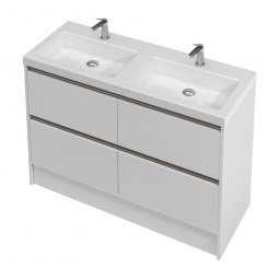City Floor 1200 Double Basin, 4 Drawers
