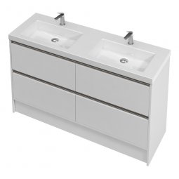 City Floor 1400 Double Basin, 4 Drawers
