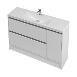 City Slim Floor 1200 1 Door, 2 Drawers
