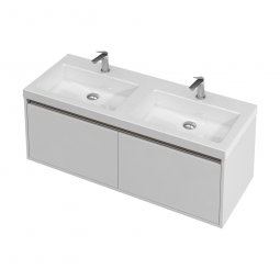 City Wall 1200 Double Basin, 2 Drawers