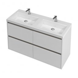 City Wall 1200 Double Basin, 4 Drawers