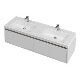 City Wall 1400 Double Basin, 2 Drawers