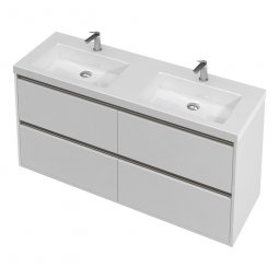 City Wall 1400 Double Basin, 4 Drawers