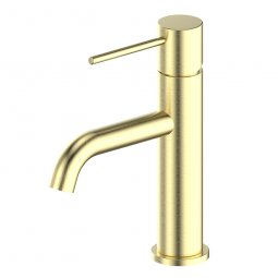 Gisele Basin Mixer - Brushed Brass