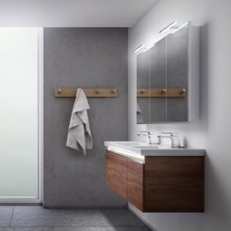 Dusk 1200 Double Basin, 2 Doors, 1 Drawer