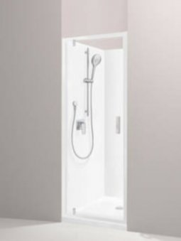Valencia Elite Alcove Pivot Shower, Acrylic - 900x750mm/750x900mm