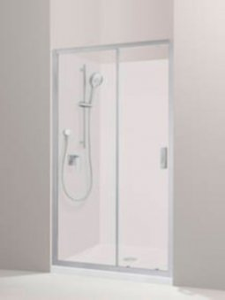 Valencia Elite Alcove Sliding Shower, Acrylic - 1000 x 1000mm