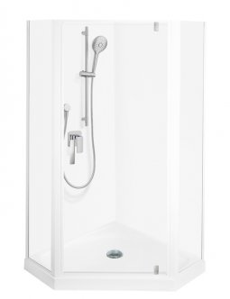 Valencia Elite Angle Corner Pivot Shower, Acrylic - 1000 x 1000mm