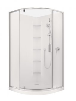 Valencia Elite Rondo Pivot Shower, Acrylic - 900 x 900mm