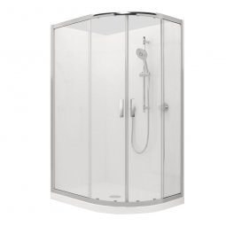Valencia Elite Round Sliding Shower, Acrylic - 1200 x 900mm