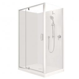 Valencia Elite Corner Pivot Shower, Acrylic - 1200 x 900mm