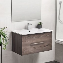 Cashmere Double Drawer Vanity 600