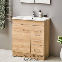 Cashmere Slim 750 Classic Doors and Drawers Vanity