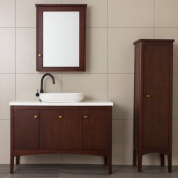 1500 Madison Vanity Double Basin 2 Door & 1 Drawer with Internal Cosmetic Drawer