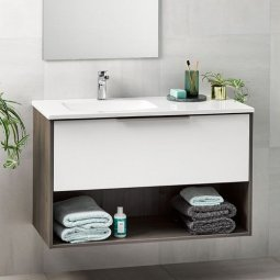 Nikau Single Drawer Open Vanity