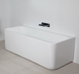 Progetto Pure Back To Wall Freestanding Bath 1500