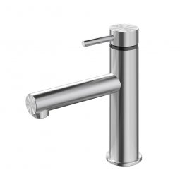 Turoa Basin Mixer - Stainless Steel
