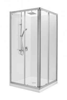 Valencia Elite Square Sliding Shower, Acrylic - 900 x 900mm