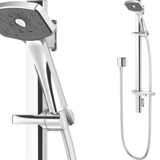 Waipori Satinjet Slide Rail Shower