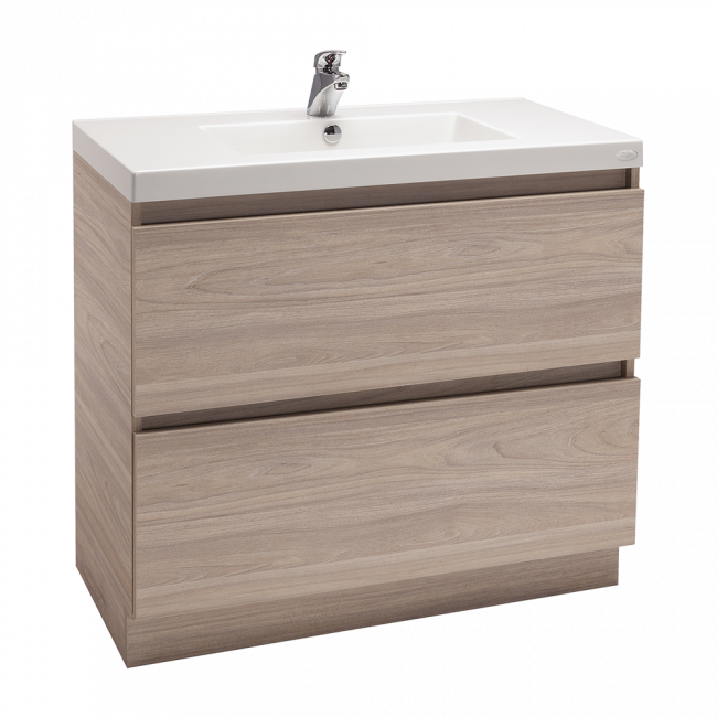 Valencia Floor Standing Vanity, Two Drawers, Single Bowl, 900mm