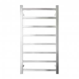 Platino Rectangular Heated Towel Rail 8 Bar 1100h x 600w mm