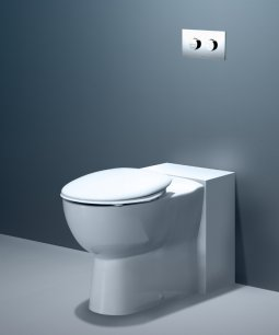 Leda Care Wall Faced Invisi Series II® Toilet Suite