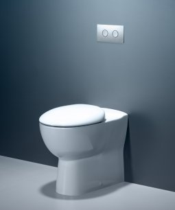 Leda Wall Faced Invisi Series II® Toilet Suite