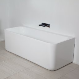 Progetto Pure Back To Wall Freestanding Bath 1700