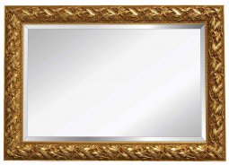 Bergamo - 100mm  Leaf Patterned Silver Frame